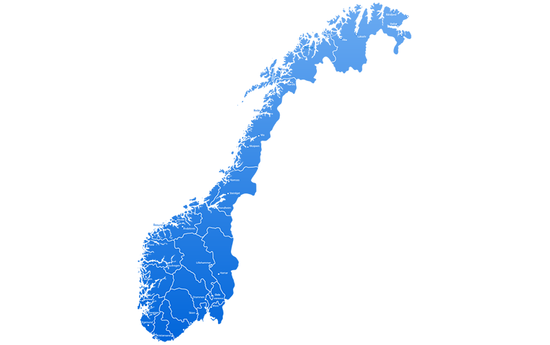Interimleder kart Interim Norge