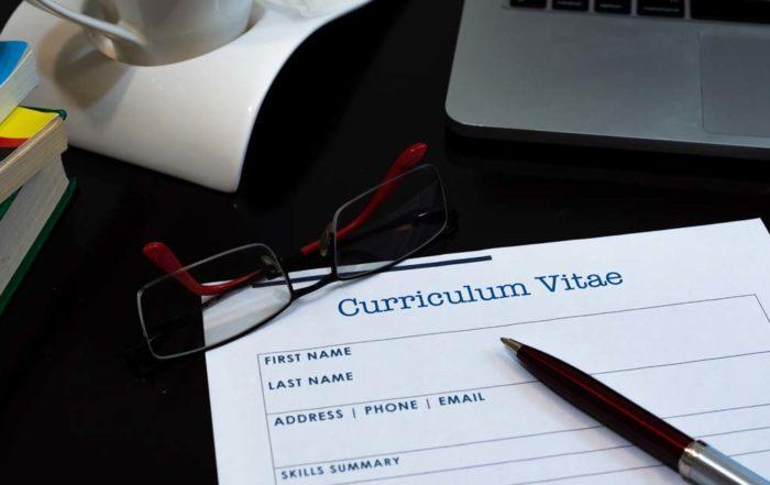 CV til et oppdrag som interimleder